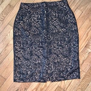 Worthington Skirts - Worthington Black & Gold Pencil Skirt